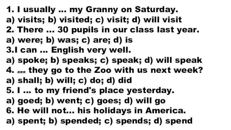 I Usually My Granny