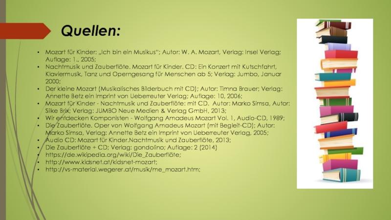 Презентация по немецкому языку на тему Вольфганг Амадей